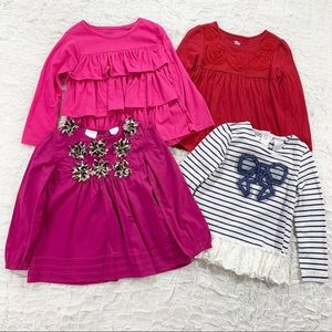 Bundle of four 4T dressy long sleeve tops